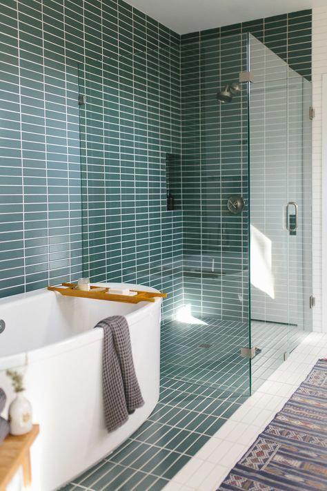 Mid Century Modern Master Bathroom In Austin Freestanding Custom Bathroom Remodel Austin Concept
