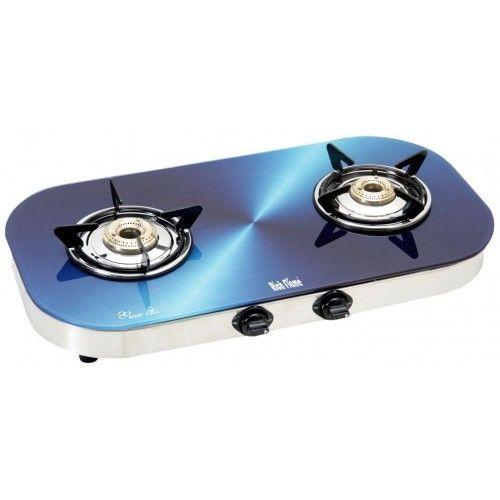 Rich Flame 2 Burner Glitter Gas Stove, Blue