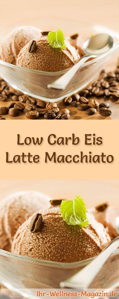 Rezept für selbstgemachtes Low Carb Eis Latte Macchiato - ein einfaches Eisrezept für kalorienreduzierte, kohlenhydratarme und gesunde Eiscreme ohne Zusatz von Zucker ...