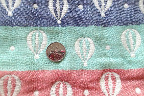 Soft baby blanket muslin blanket balloons by MIKIbabyblanket