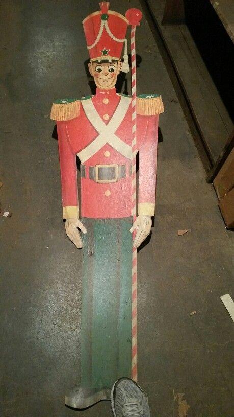 Kresge's/Jupiter 5c & 10c Store -   Cardboard Christmas Soldier Decoration