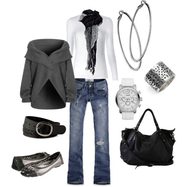 Sooooo Me: Shoes, Style, Black And White, Cute Sweaters, Outfit, Black White, Jackets, Grey Sweaters, Casual Looks