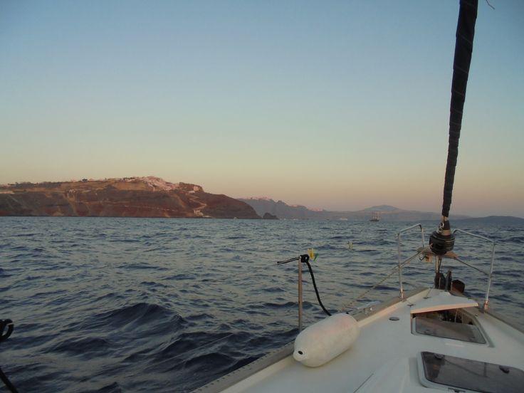 #oia #santorini #sailing #sunset