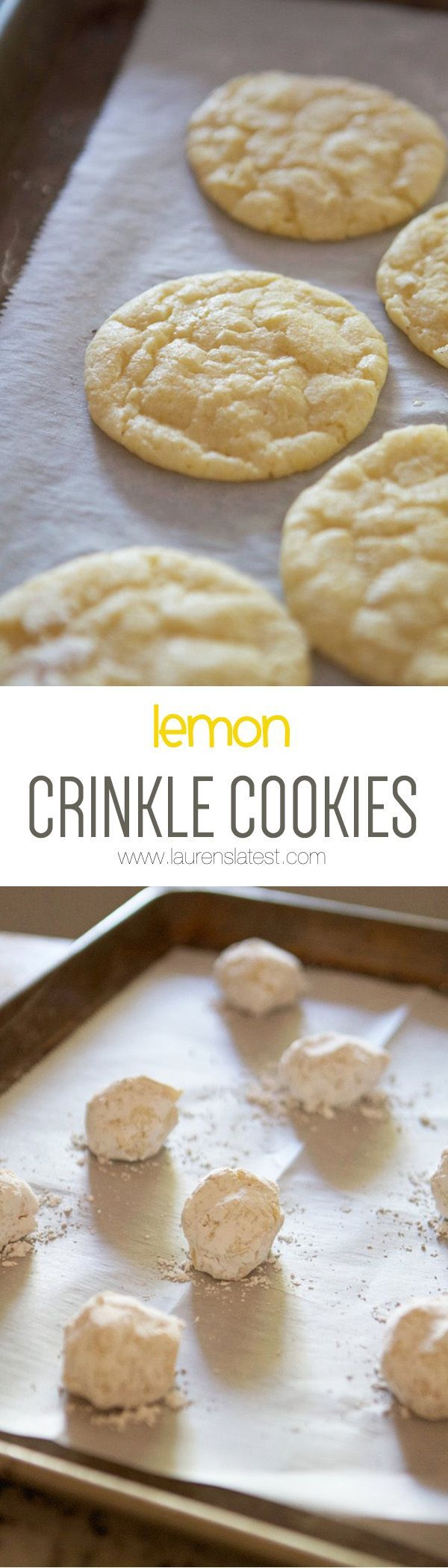 Lemon Crinkle Cookies... Lusciously lemony and simple to make!