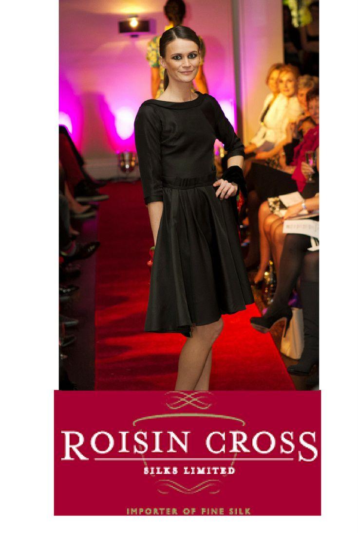 Black Barathea Wool Dress