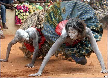 Voodoo dancers in Benin