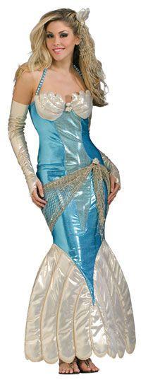 Merenneito Deluxe asu standardikokoisena. Upea puku todella upeilla meriaiheisilla viimeistelyillä. #naamiaismaailma