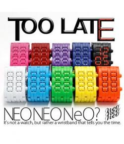 TOO LATE NEO WATCH | hart Cool Gifts