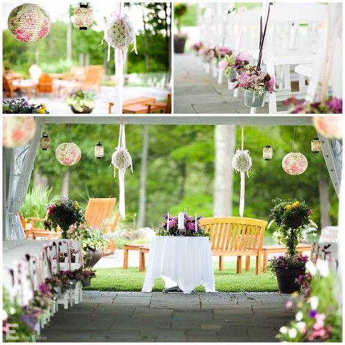 Hanging decors: Outdoor Ceremony, Decor Ideas, Wedding Receptions, Wedding Ideas, Outdoor Wedding Decor, Unique Wedding, Gardens Wedding, Wedding Ceremony, Diy Wedding Decor