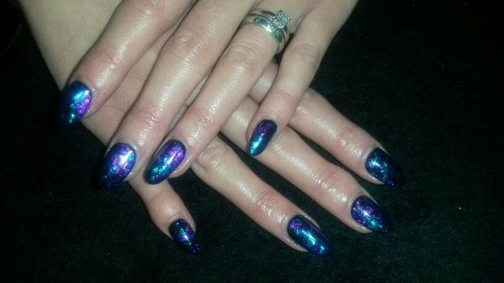 Cnd Shellac with foils following on facebook Jewels Not Tools By Kelly ♥