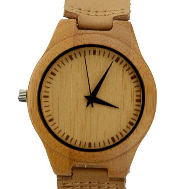 Vendita caldo giapponese miyota movimento wristwatche cuoio genuino di bambù di legno orologi per gli uomini e donne braccialetto creativo