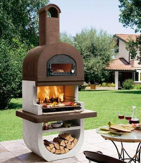 Barbecue in muratura - Barbecue in muratura prefabbricato con forno