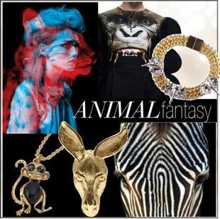 Animal fantasy  Świat zwierząt zawsze fascynował projektantów. Dzikość, niezależność, nadludzkie możliwości. Zwierzęce motywy widać u największych projektantów biżuterii.  Od bardzo realistycznych głów antylop czy zebr po zabawne i wesołe biedronki. Mało tego: co sezon pojawia się fascynacja inną kategorią animalsów -  mijający sezon był pełen odstraszających insektów a teraz pełno leśnych odmian:)