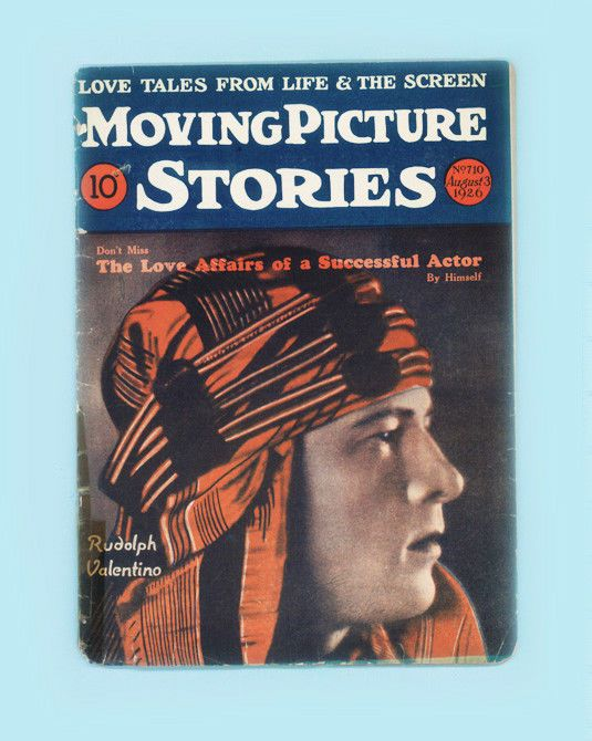 MOVING PICTURE STORIES-RUDOLPH VALENTINO-AUGUST 3, 1926-BETTY BRONSON-RARE ISSUE