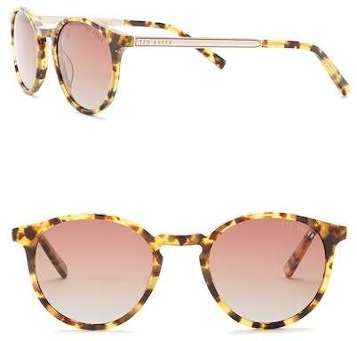 9754c524e Ted Baker London | Round 48mm Acetate Frame Sunglasses | Products ...