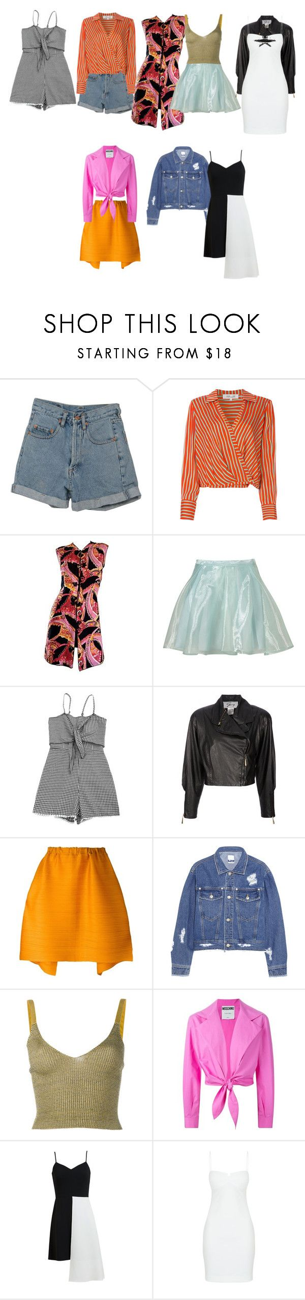 """""""Untitled #7495"""" by aurorazoejadefleurbiancasarah ❤ liked on Polyvore featuring PèPè, Diane Von Furstenberg, Topshop, Genny by Gianni Versace, Pleats Please by Issey Miyake, Steve J & Yoni P, Kenzo, Moschino, Osman and Kendall + Kylie"""