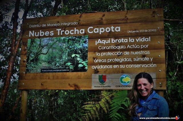 Caminando por la reserva que une los pueblos de Tarzo, Pueblorrico y Jerico