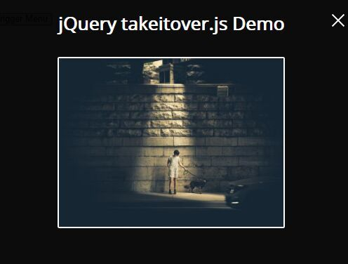 takeitoverjs is a simple css less jquery modal plugin created