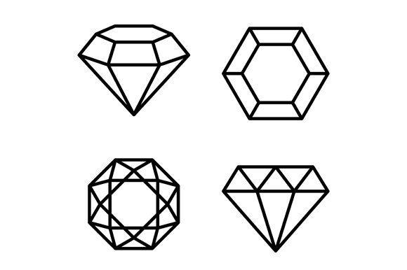 Red Ruby Gemstone Icon Set Icon Set Gemstones Ruby Gemstone