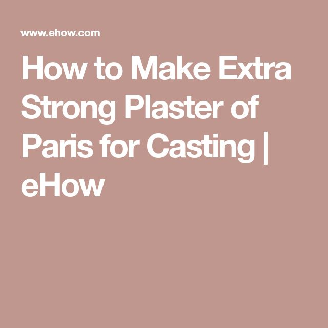 how to make plaster of paris models