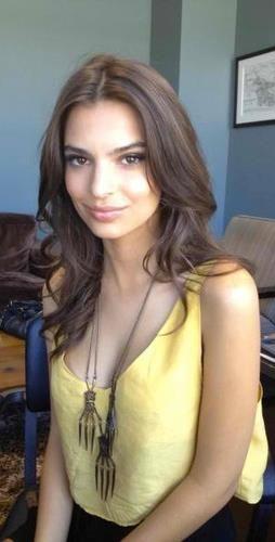 Blurred lines brunette model