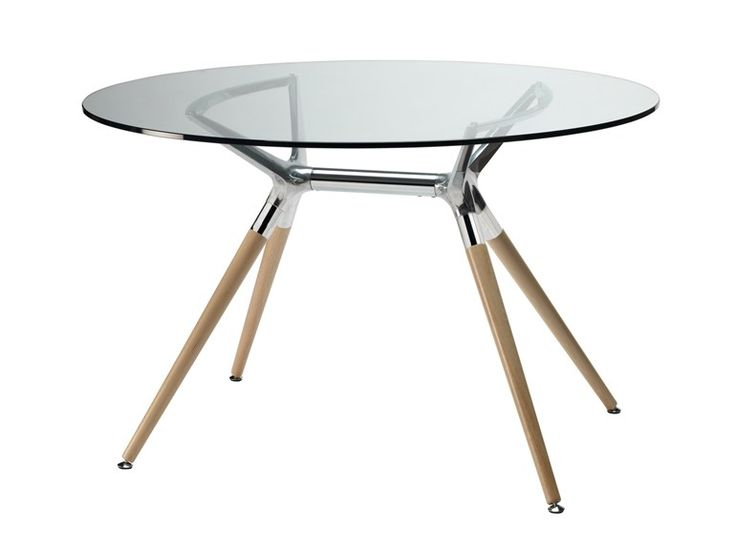Tavolo rotondo in vetro temperato NATURAL METROPOLIS Linea Natural by SCAB DESIGN