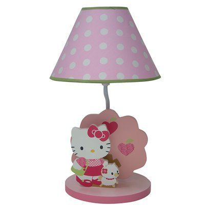Lambs & Ivy Hello Kitty & Puppy Lamp w/ Shade Pink : Target