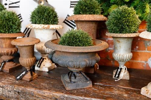 19th Century French Cast Iron Urns inspiration for my french country garden