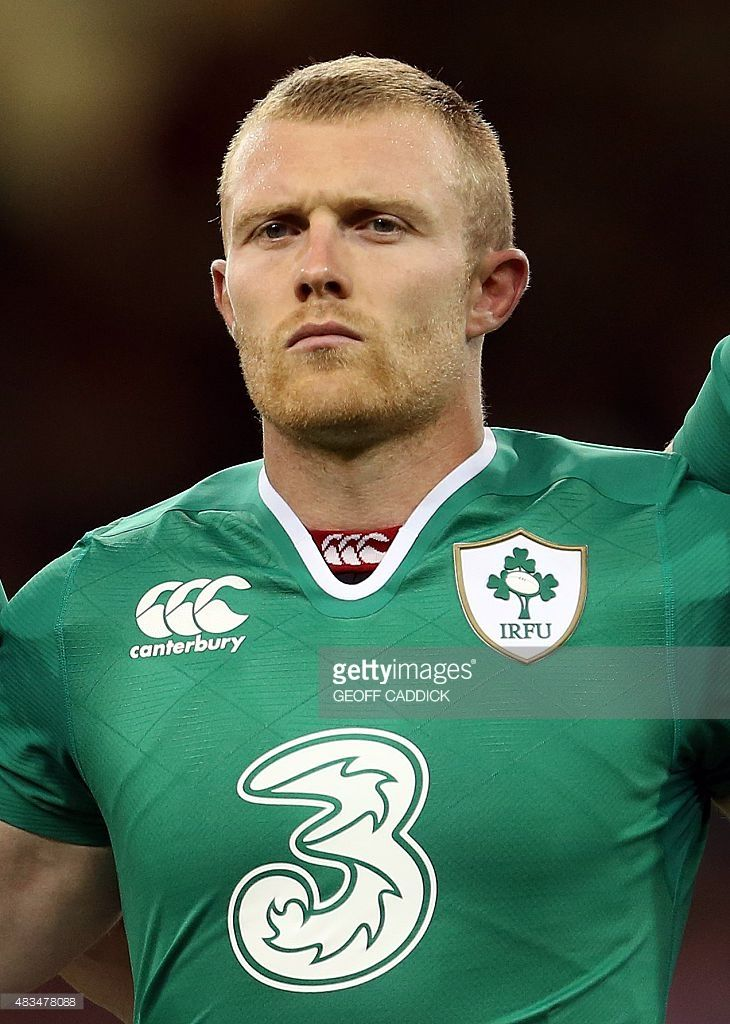 Ireland's centre Keith Earls lines up ahead of the 2015 Rugby World Cup warm up rugby union match between Wales and Ireland at The Millennium Stadium in Cardiff, south Wales on August 8, 2015. The 2015 Rugby World Cup begins on September 18, 2015, and will be held at various venues across England and Wales.