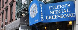 "Eileen's Cheesecake, Nolita - Best in NY - minis available for 3.50 so you may sample a cross-section of flvrs. 10"" delivered anywhere in the US! Lowfat, gluten-free, sugar free, dairy-free available by request when ordered in advance. You also may suggest a flavor! Free caramel or can cheesecake or other varieties free w/ $5 purchase by visiting FB for current promo, if any. 17 Cleveland Pl/Kenmare & Centre Sts, opposite Spring & Lafayette Sts. 212.9665585; 1.800.521.CAKE"