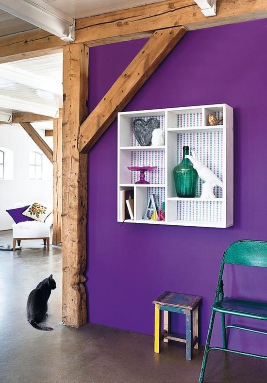 wall - paarse muur - interieur