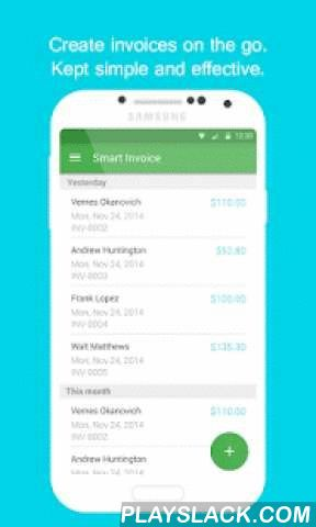Smart Invoice: Email Invoices  Android App - playslack.com ,  Smart Invoice is the fast and easy way to create, estimate, bill and email invoices to clients. Smart Invoice is the perfect business tool to email an invoice from your Android Phone or Tablet instantly to your customer. Designed for both product and service businesses, smart invoice is simple and fast to use, allowing you to create an invoice to be sent via email to your customer within seconds. No need to search for templates…