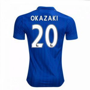 16-17 Leicester City Cheap Home Okazaki #20 Replica Football Shirt [I00308]