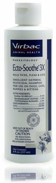 Ecto-Soothe 3X  Flea Shampoo (8 oz) by VIRBAC - $7.80
