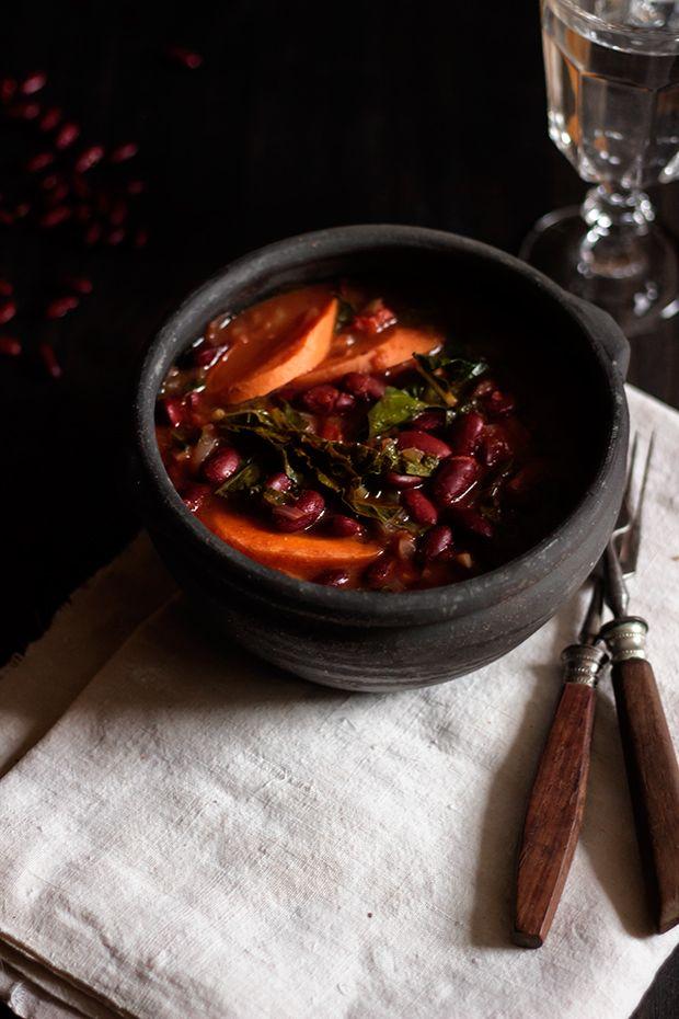 Le Passe Vite: Feijoada de Feijão Vermelho, Cenoura e Couve Galega :: Red Bean, Carrot and Kale Stew