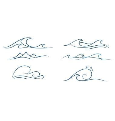 Simple + waves + set + vector + on + VectorStock (Top Quotes Mountain) #berg # quotes