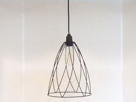 Industrial+Style+Black+Hanging+Pendant+Light+by+LampShadeDesigns,+$80.00
