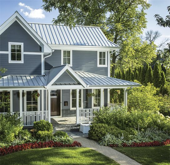 Best 25 metal roof colors ideas on pinterest for Green siding house