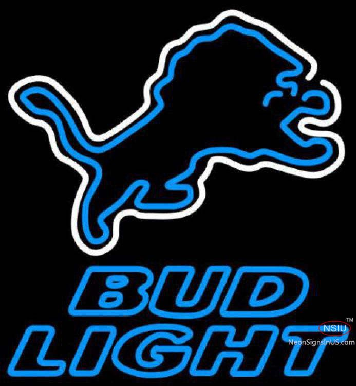 Bud Light Neon Detroit Lions NFL Real Neon Glass Tube Neon Sign,Affordable and durable,Made in USA,if you want to get it ,please click the visit button or go to my website,you can get everything neon from us. based in CA USA, free shipping and 1 year warranty , 24/7 service