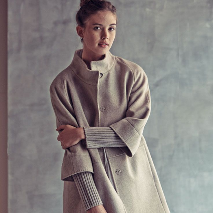 A wool coat is key for fall.