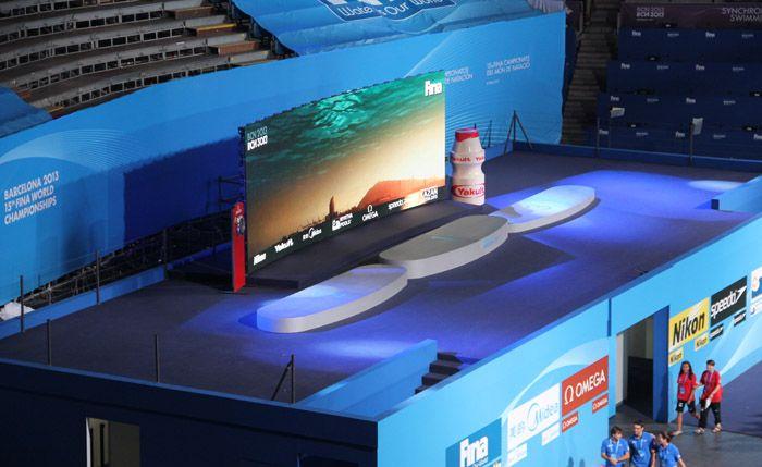 Mundiales de Natación: Barcelona 2013 - 15th FINA World Championships #Audiovisual #LedWall