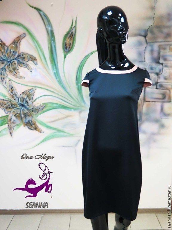 """Купить Платье """"В стиле Шанель"""" из атласа 2 цветов классическое - чёрный, платье"""