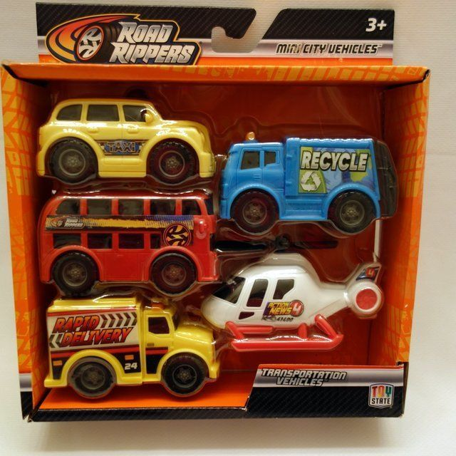 Toy State Road Rippers Transportation Vehicles Set of 5 Age 3+ New In Box  #ToyState #5ServiceVehicles