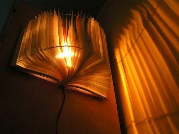 kreative handgemachte Lampen buch idee