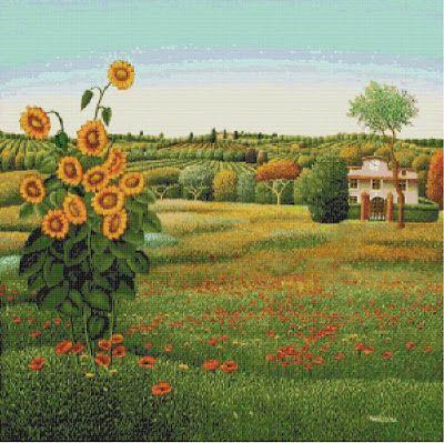 Professione Donna: Schema a punto croce: Paesaggio_148
