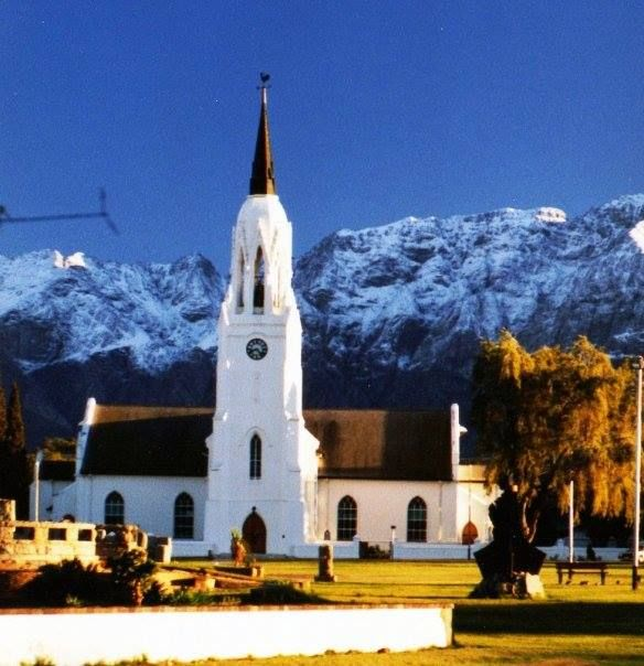 Worcester - one of the biggest town in the Cape Winelands - about an hour from Cape Town.
