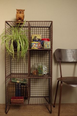 Wire Storage Unit | vincentandbarn.co.uk | Vintage Industrial Furniture | Wire Trend | Warehouse Home Design Magazine