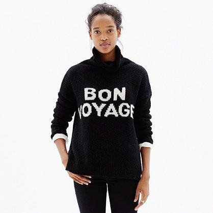 Bon Voyage Turtleneck Sweater. Must have to travel in...