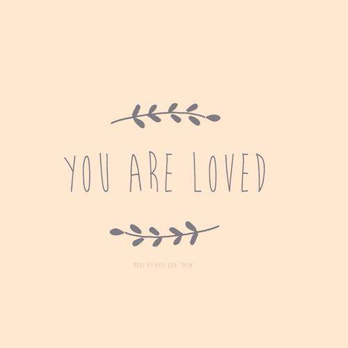 """You are loved, quotes, jij bent geliefd, spreuk, Romans 5, Design by Huis van """"Mijn"""""""