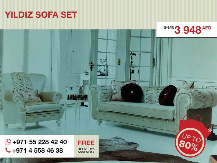 What Can Be More Elegant Than The Yildiz Sofa Set Try And You SetAbu Dhabi